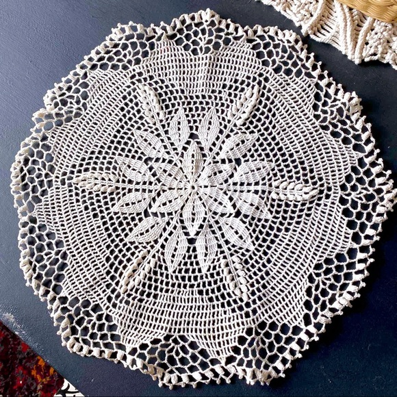 Vintage Crocheted Lace Doily GRANNY CHIC
